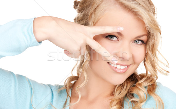 woman showing hand with polished nails Stock photo © dolgachov