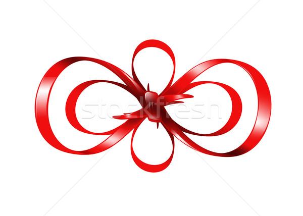 red bow isolated on white background Stock photo © dolgachov