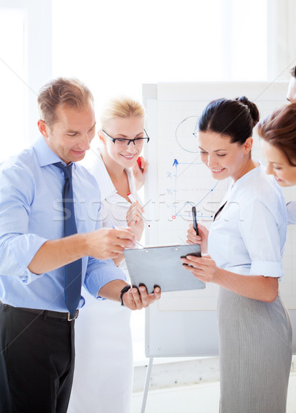 Equipo de negocios debate oficina amistoso negocios reunión Foto stock © dolgachov