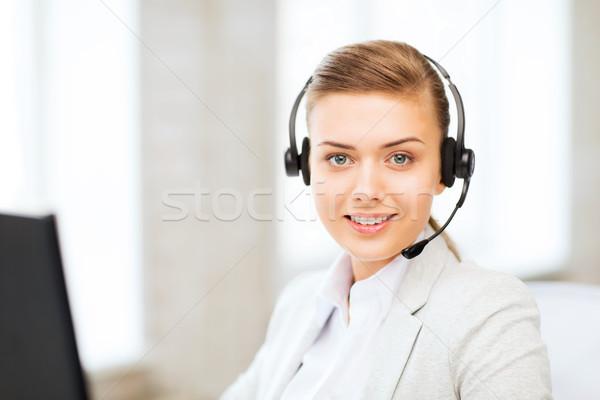 女性 ヘルプライン 演算子 ヘッドホン ビジネス 通信 ストックフォト © dolgachov