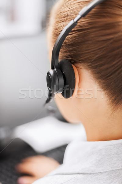 女性 ヘルプライン 演算子 ビジネス オフィス 学校 ストックフォト © dolgachov