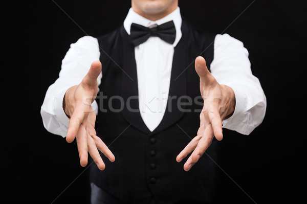 casino dealer showing trick Stock photo © dolgachov