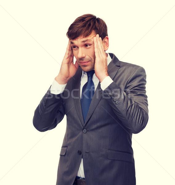 Hangsúlyos tanár fejfájás üzlet iroda stressz Stock fotó © dolgachov