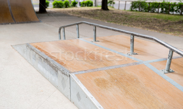 close up of ramp at city skatepark Stock photo © dolgachov