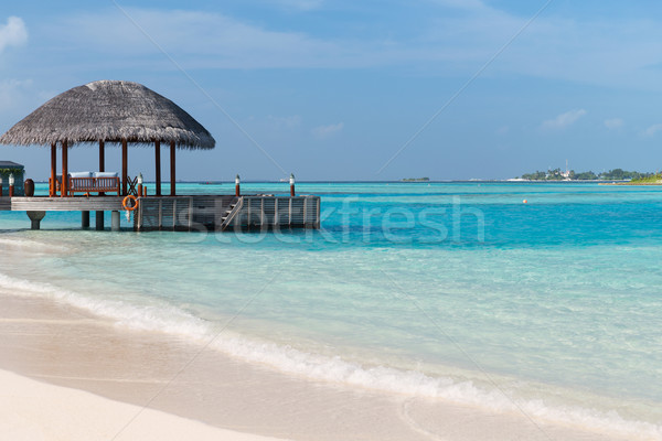 Patio terrasse plage mer rive Voyage Photo stock © dolgachov