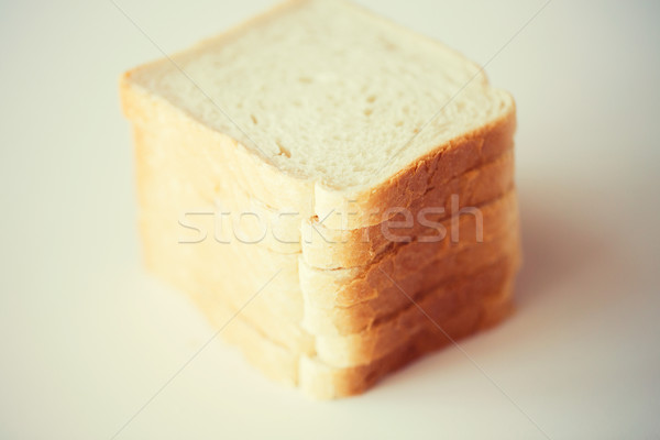 close up of white toast bread on table Stock photo © dolgachov