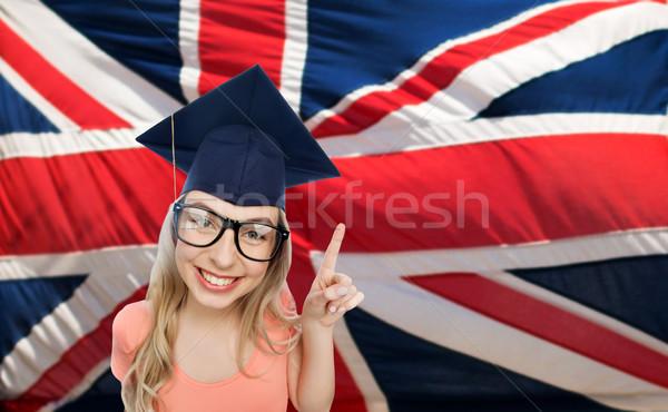 Student vrouw mensen afstuderen onderwijs Stockfoto © dolgachov