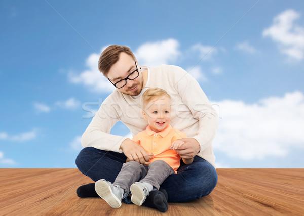 幸せ 父 家族 幼年 ストックフォト © dolgachov