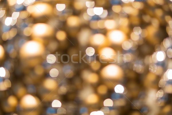Arany karácsony dekoráció girland fények ünnepek Stock fotó © dolgachov