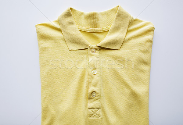 close up of polo t-shirt on white background Stock photo © dolgachov