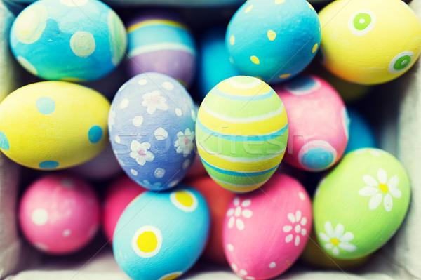 Huevos de Pascua Pascua vacaciones tradición Foto stock © dolgachov