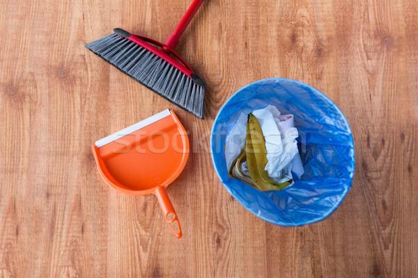 śmieci worek kosza czyszczenia domu prace domowe Zdjęcia stock © dolgachov