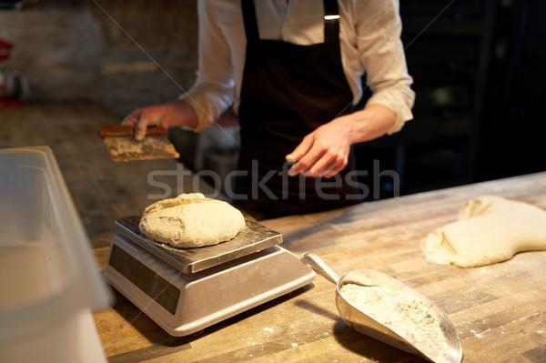 Chef Baker scala panetteria alimentare cottura Foto d'archivio © dolgachov