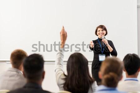 группа людей бизнеса конференции лекция образование люди Сток-фото © dolgachov