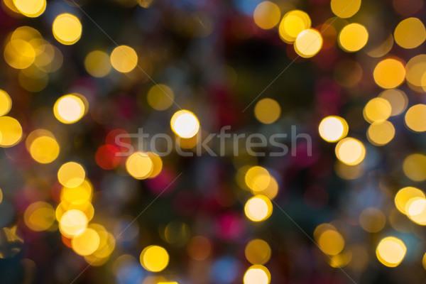 Bulanık Noel ışıklar tatil kırmızı tatil Stok fotoğraf © dolgachov