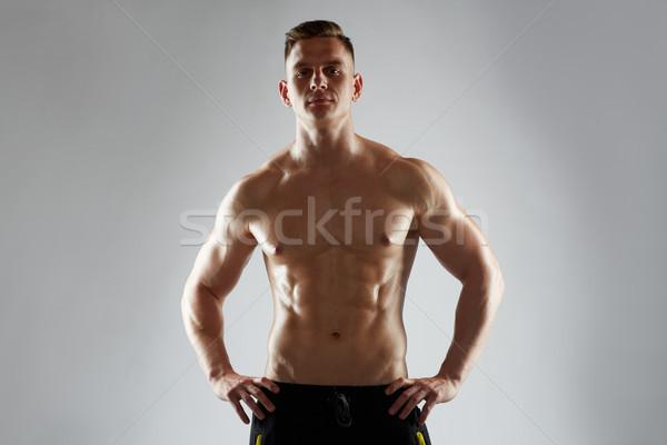若い男 ボディービルダー 胴 スポーツ ボディービル ストックフォト © dolgachov