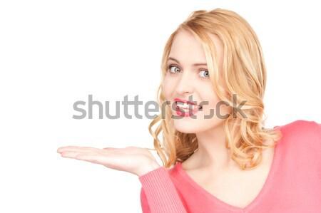 Algo palma bela mulher mão mulher Foto stock © dolgachov