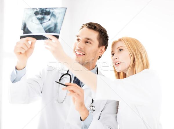 Сток-фото: два · врачи · глядя · Xray · здравоохранения · медицина