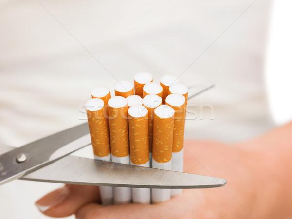 Schaar veel sigaretten gezondheid Stockfoto © dolgachov
