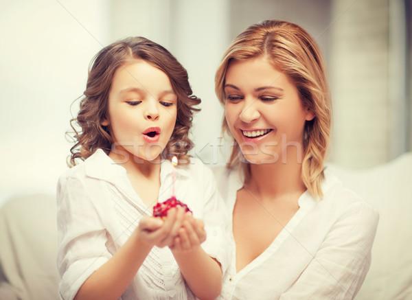 母親 娘 画像 家 少女 ストックフォト © dolgachov