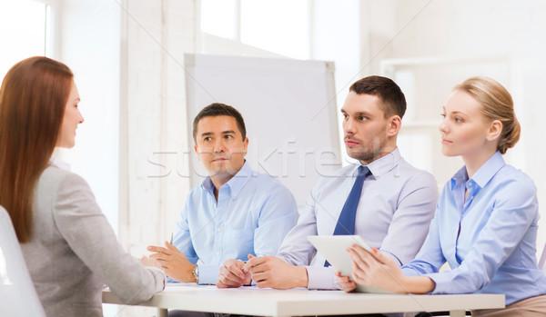 Equipo de negocios solicitante oficina negocios entrevista empleo Foto stock © dolgachov