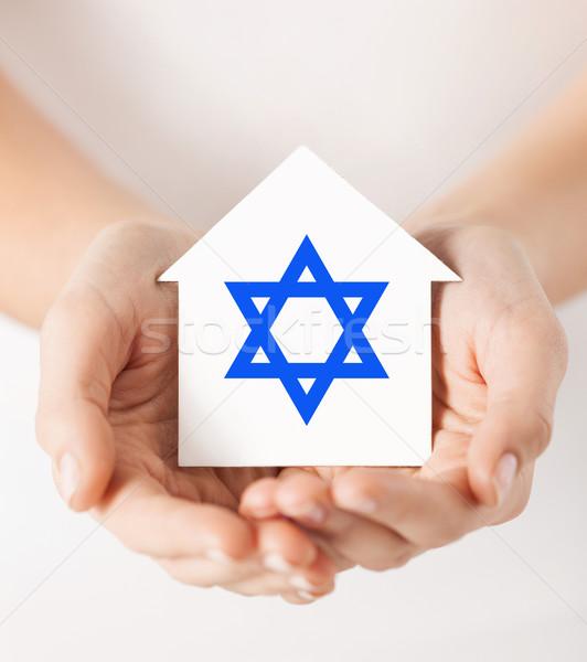 Mãos casa estrela religião judaísmo Foto stock © dolgachov
