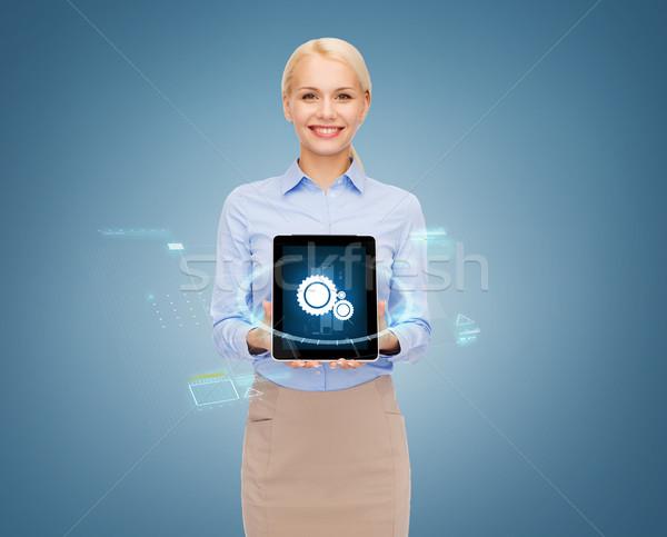 Сток-фото: деловая · женщина · компьютер · бизнеса · технологий · интернет