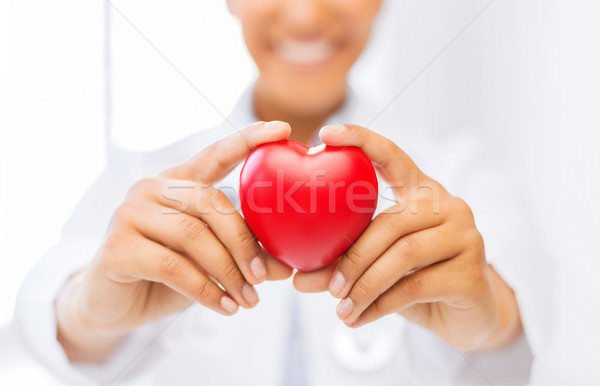 woman hands with heart Stock photo © dolgachov
