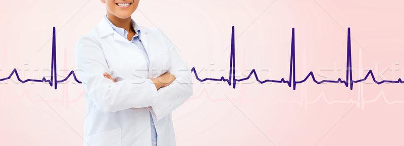 african american female doctor Stock photo © dolgachov