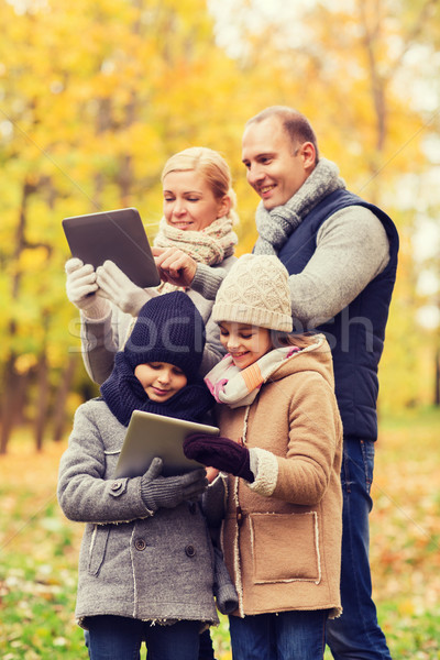 Stok fotoğraf: Mutlu · aile · sonbahar · park · aile · çocukluk