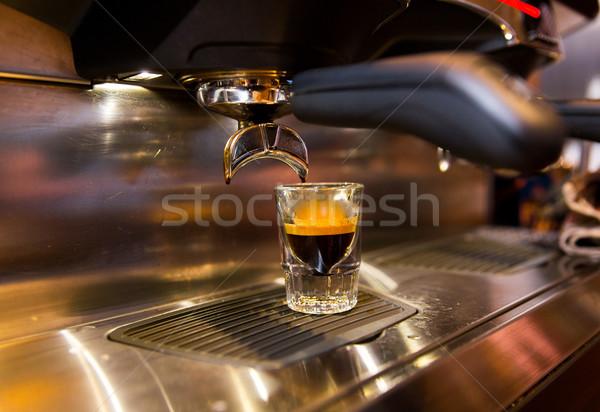 Espresso machine koffie uitrusting Stockfoto © dolgachov