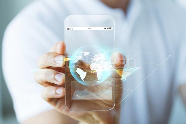 Сток-фото: стороны · земле · мира · смартфон · бизнеса