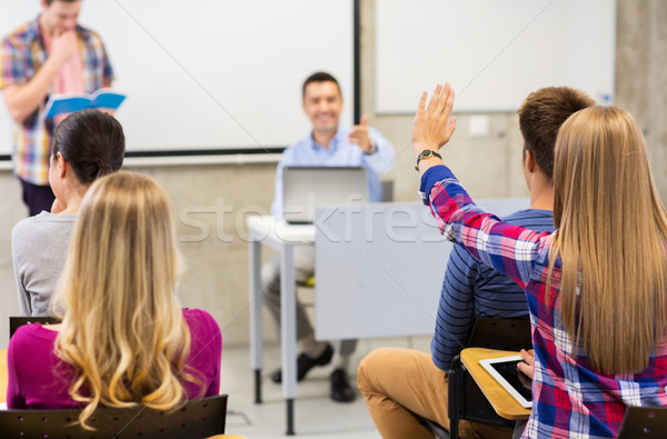 group of students in lecture hall Stock photo © dolgachov