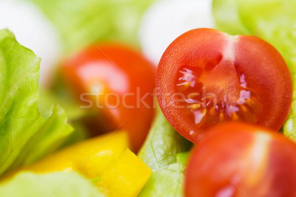 Maduro cortar legumes salada dieta Foto stock © dolgachov