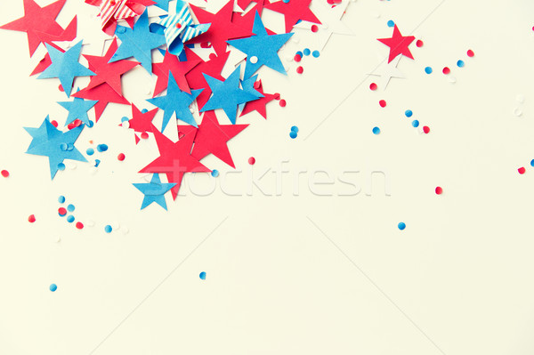 stars confetti on american independence day party Stock photo © dolgachov