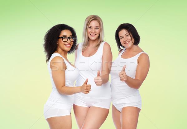 グループ 幸せ プラスサイズ 女性 ストックフォト © dolgachov