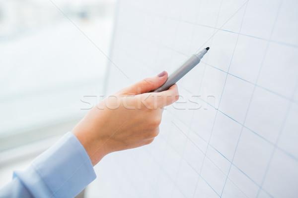 Strony piśmie coś wykres biuro Zdjęcia stock © dolgachov