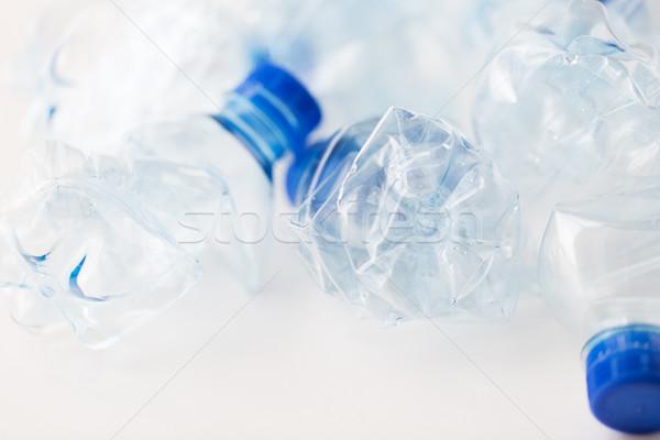 Stok fotoğraf: Boş · kullanılmış · plastik · şişeler · tablo