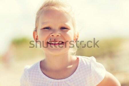 happy beautiful little girl portrait outdoors Stock photo © dolgachov