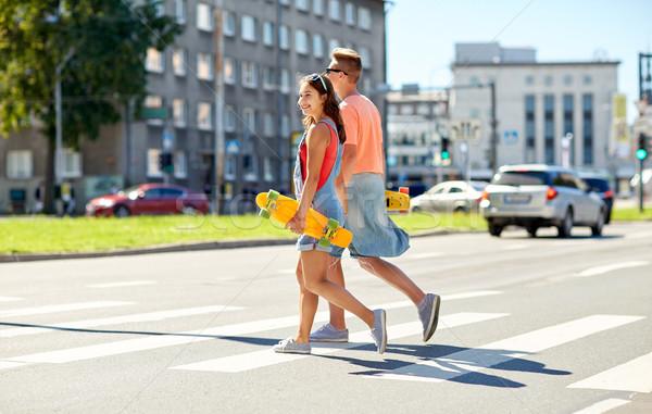 Para ulicy miasta lata wakacje Zdjęcia stock © dolgachov