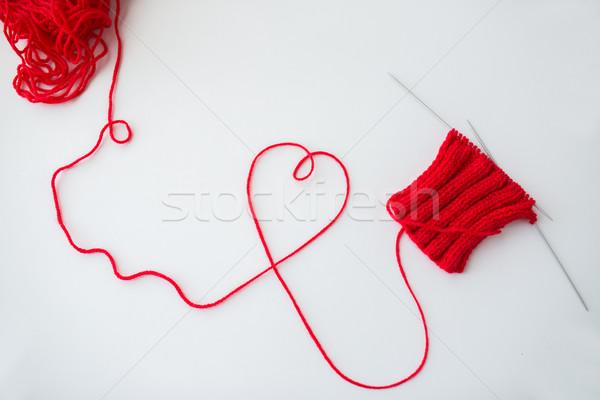 хвоя потока формы сердца любви Сток-фото © dolgachov