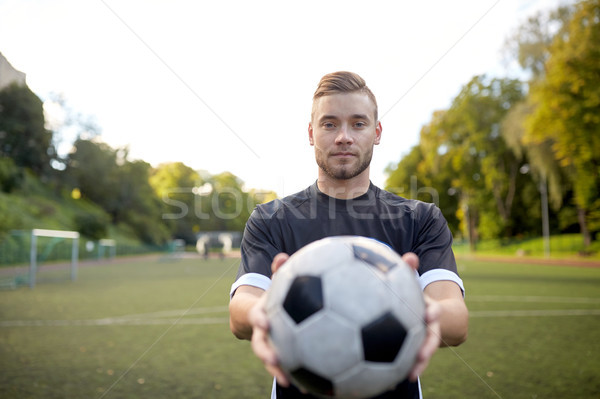 Labdarúgó labda futballpálya sport futball képzés Stock fotó © dolgachov