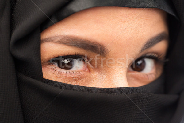 close up of muslim woman in hijab  Stock photo © dolgachov