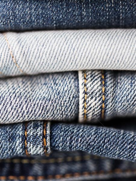 Denim kleding jeans dragen Stockfoto © dolgachov