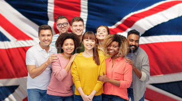 Internationale groep gelukkig glimlachend mensen diversiteit Stockfoto © dolgachov