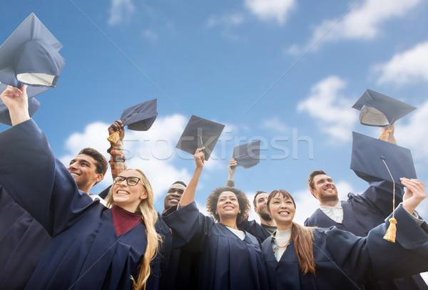 Gelukkig bachelors hemel onderwijs afstuderen Stockfoto © dolgachov