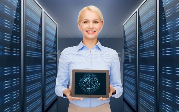 Empresária servidor quarto pessoas de negócios tecnologia Foto stock © dolgachov