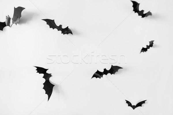 Halloween decoración blanco miedo negro vuelo Foto stock © dolgachov