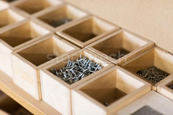Cajas taller producción industria cuadro Foto stock © dolgachov