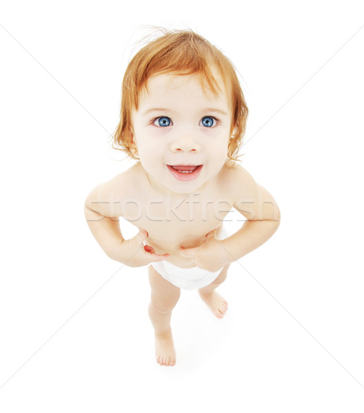 Stock photo: baby boy in diaper